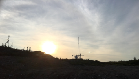 Researcher Uses FTS Remote Automated Weather Station (RAWS) in Labrador